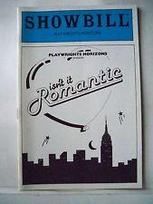 ISN'T IT ROMANTIC Playbill BETTY COMDEN / JERRY LANNING / CHIP ZIEN NYC 1983
