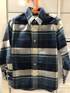 CREWCUTS Plaid Button Down Size 6/7