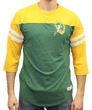 Green Bay Packers Mitchell & Ness NFL Starting 3/4 Sleeve Tri-blend Henley Shirt