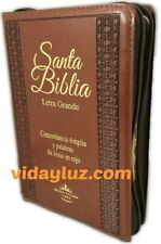 Biblia Letra Grande Reina Valera 1960 Con Cierre Cafe Indice Y Maxi Concordancia