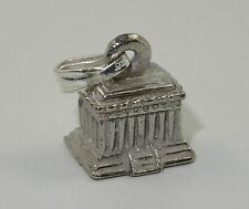 """LARGE REALISTIC VINTAGE STERLING TEMPLE OLYMPUS CHARM / PENDANT ~ 0.5"""""""