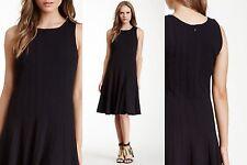 Joan Vass Black Seamed Sleeveless Dress Size 0 (4-6)