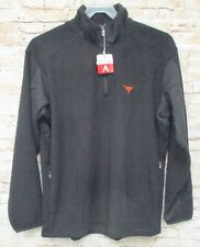 Texas Longhorns Antigua 1/4 Zip Black Fleece Pullover Jacket 2XL  XXL Brand New