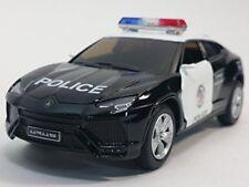 "New 5"" Kinsmart Diecast Lamborghini Urus Police SUV Diecast Model Toy Cop 1:38"