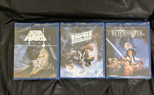 Star Wars Original Theatrical Trilogy Despecialized 3 Blu-Ray SEALED Retro Art