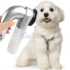 Vacuum Suction Grooming Dog Pet Shed Pal Fur Vac Hair Collection Or Removal Gray