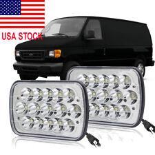 Pair 7X6'' LED Headlights Hi/Lo For Ford E-150 E-350 Econoline Club Wagon Cargo