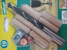 Dübelset 10 mm Holzbohrer Holzdübel Bohrhilfe Wolfcraft Dübel