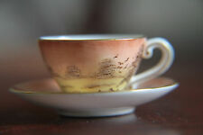 Rare CAVERSWALL JULY DAWN MINIATURE CUP & SAUCER HAND PAINTED by TIPTON