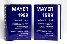 International AUCTION Prices BOOKS A-J K-Z 1999 Volumes I & II, MAYER Research