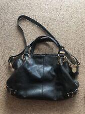 Gorgeous 'DUNE' Designer Black Leather Look Slouch Shoulder Bag/Tote/Bucket