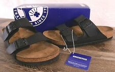 Birkenstock Arizona Birko-Flor Sandals Women's 9 Med Men's 7 Cork Shoes Black 40