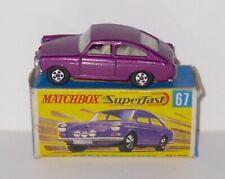 Vintage Matchbox Superfast 67b - Volkswagen 1600 TL - Boxed.