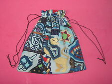 Hanukkah Gift Bag-Draw String Bag-Cloth-Handmade