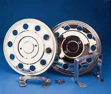 """ford transit 16"""" stainless steel twin wheel wheel trims hub caps covers"""