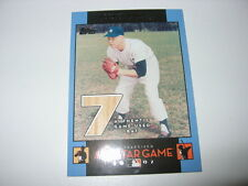 MICKEY MANTLE GAME USED BAT CARD #61/77 YANKEES 2007 TOPPS FANFEST JERSEY #7