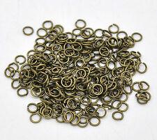 100 Bagues à cintrer 5 mm-Open Jump Ring-federring verbindungsring Antique Bronze #