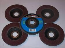 """5 CALHAWK 4-1/2"""" ANGLE GRINDER SANDING FLAP DISC 40 GRIT WHEELS GRINDING"""
