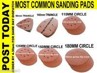 Sanding Pad Sheets Triangle Circle 90mm 140mm 115mm 125mm 150mm 180mm VELCRO