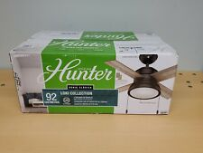 "Hunter Lighted Ceiling Fan Loki Collection 36"" Model 59387"