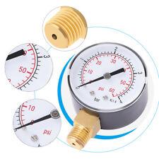 "1/4"" NPT Manomètre de pression de carburant eau huile air 0-4bar / 0-60psi Neuf"