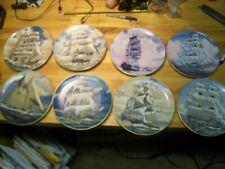 Danbury Mint Set of 8 Plates- Great American Sailing Ships