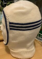 "Men's Knitted Balaclava In Brilliant White ""Be Seen At Night"" Soft DK Hand Made"