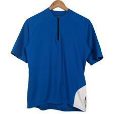Cannondale Blue Short Sleeve 1/4 Zip Cycling Jersey - Size Small
