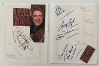 FRANKIE VALLI & The 4 SEASONS Genuine Handsigned Signatures on 2   9 x 6 Pages.
