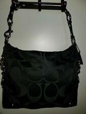 Coach Carly C Classic Hobo Black Signature Women's Handbag