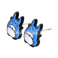 Women Anime Totoro Ear Stud Earrings Cosplay Kawai Cute Cartoon Enamel Jewelry