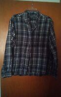 016 Men's Coft & Barrow Large Flannel Button Front Long Sleeve Shirt Plaid