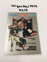 1990 Fleer MORTEN ANDERSEN New Orleans Saints All Pro Insert