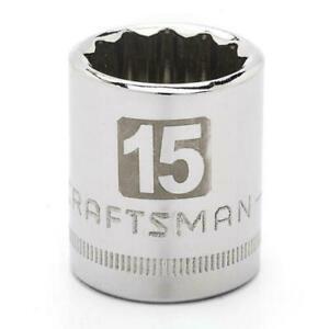 """Craftsman 3/8"""" Dr 12 Pt. Metric/SAE Laser Etched Std Socket  Hand Tool - Choose"""