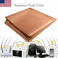 EMF Protection Copper Fabric RFID RF Radiation Wifi Signal Shielding Cloth 1m/2m