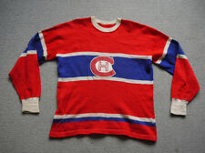 Vintage 1930s Montreal Canadiens Knitted Wool Jersey