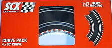 NEW BOYS SCX COMPACT #31380 90 DEGREE CURVE 4 PACK 1:43 SLOT RACING EXPANSION