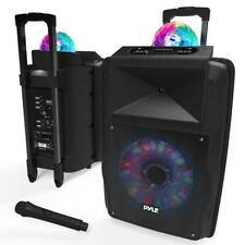 Portable PA Speaker System, Built-in LED Lights, Rechargeable Battery, 700 Watt