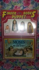 VTG Finger Puppet Books Moses in the Bulrushes NOS Sealed