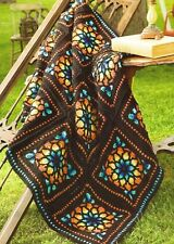 Stained Glass Window Afghan Crochet Pattern Instructions