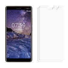 2 frontal transparente Nokia 7 Plus Lámina Film Protector de Pantalla LCD
