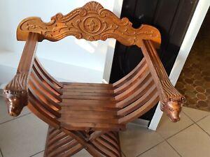 1 v 5 Sehr Schöner Scherenstuhl Ritterstuhl Schlosssessel Stuhl