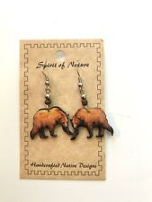 WOOD BADGE SPIRIT OF NATURE BEAR ON ALL FOURS EARRINGS  WOODBADGE