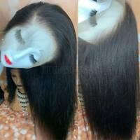 Soft Yaki Kinky Straight 360 Lace Front Wig 9A Brazilian Human Hair Full Wig Ygg