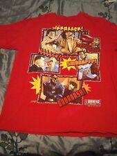 Mens Vintage Give Me Face Blade Bruce Lee Red T Shirt Hip Hop Rap T's Old School