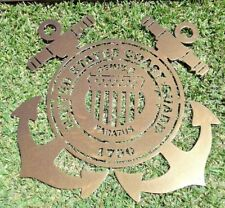 "UNITED STATES COAST GUARD Metal Sign 16"" Hand Made in Waco Texas"