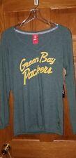 Nike Green Bay Packers Women's Long Sleeve Sparkle Shirt Medium V  Neck NWT