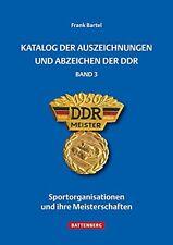 Katalog der Auszeichnungen und Abzeichen der DDR FDJ Sportgemeinschaften Buch 3
