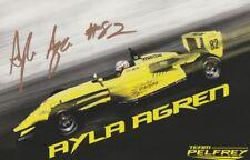2017 Ayla Agren signed Team Pelfrey Mazda USF2000 postcard