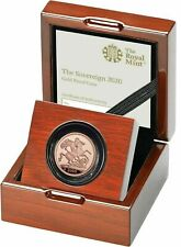 2020 Gold Proof Sovereign, Royal Mint Box, New Brand Christmas Gift Sterlina oro